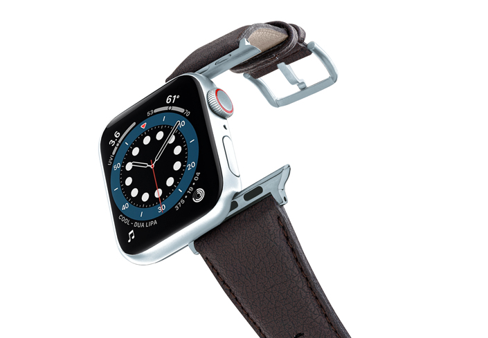 Pumila-Apple-watch-vegan-leather-band-flying-view_alluminium_silver_case