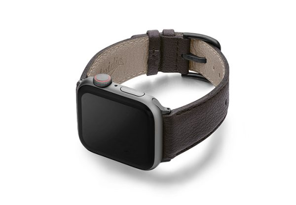 Pumila-Apple-watch-vegan-leather-band-left-view