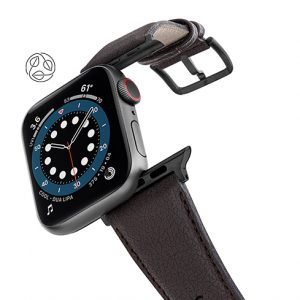 Pumila-Apple-watch-vegan-leather-band-flying-view_Space_grey_case-logo-added