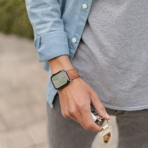 Recycled-Toffee-cotton-apple-watch-band-for-him-lifestyle-mood
