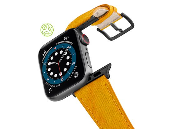 Recycled_golden_apple-watch-band-flying-mode