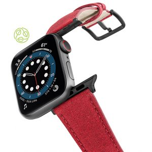 Recycled_red_apple-watch-band-flying-mode