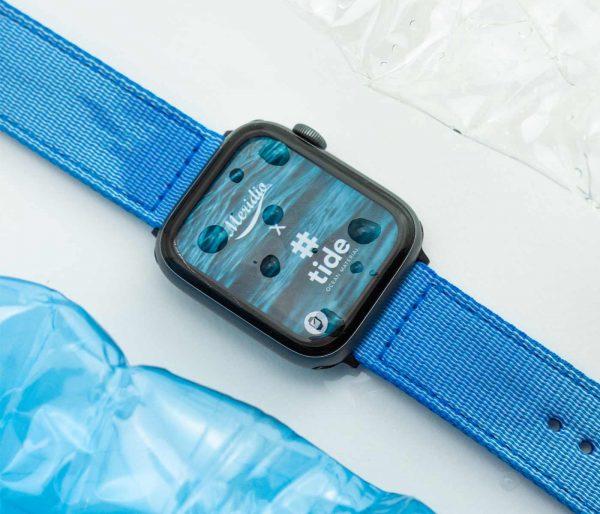 Apple-watch-light_blue-tide-band-recicled-ocean-plastic_detials_close_up